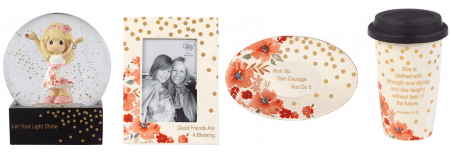 thenew Precious Moments giftsfrom theirGirlfriend Givingline availableat Amazon.