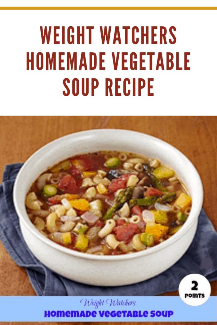 Weight watchers homemade vegetable soup