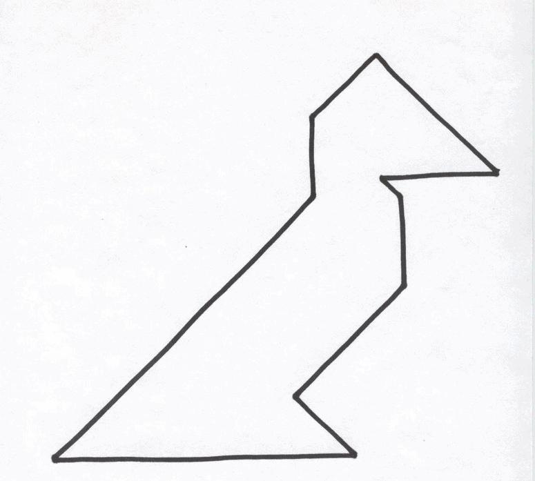 tangram bird pattern