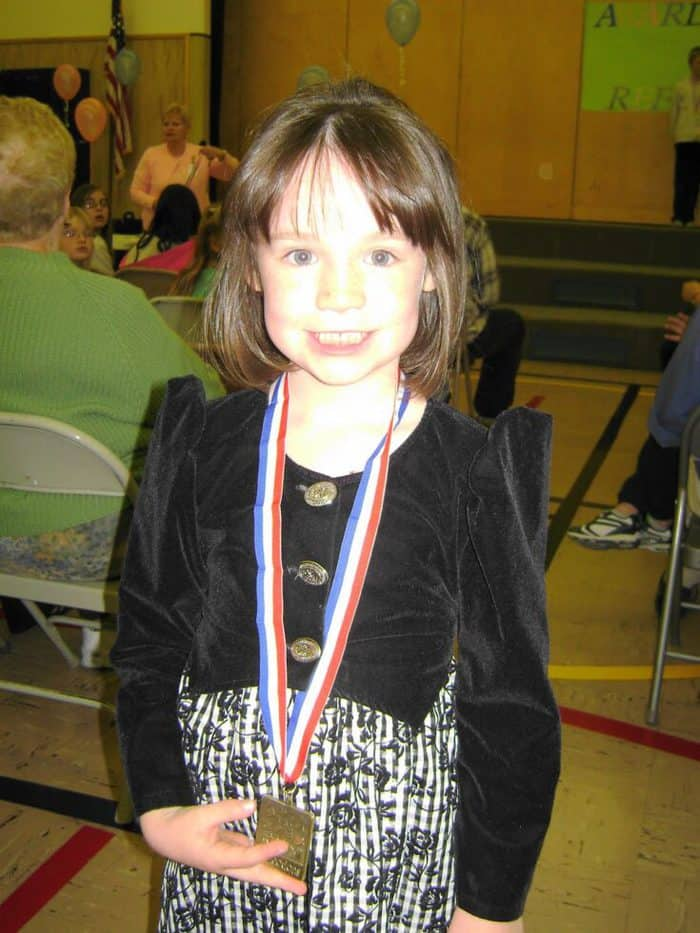 reflections winner with medal