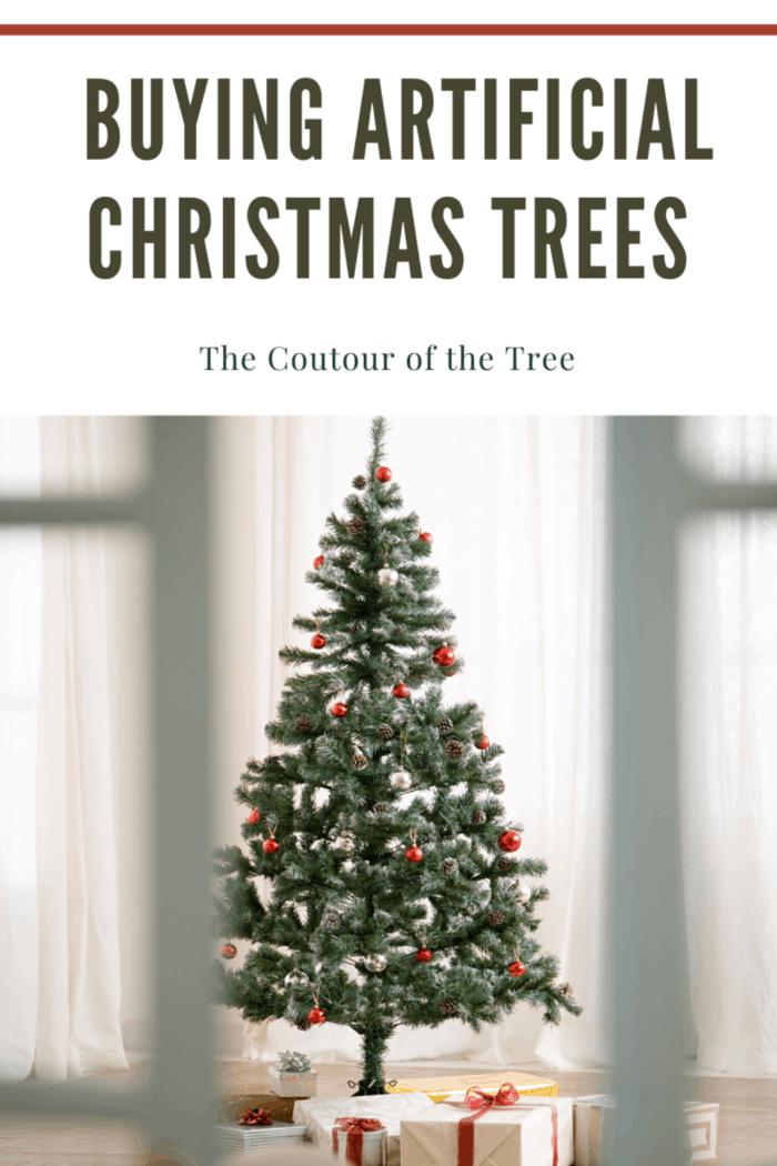 contour of artificial christmas tree