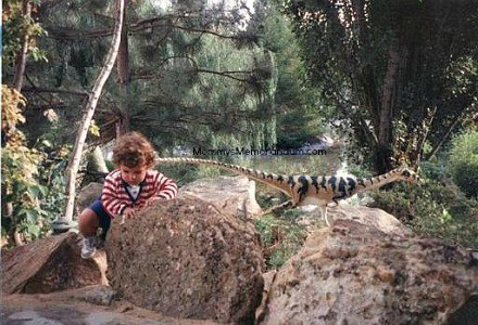 zac with dinosaurs