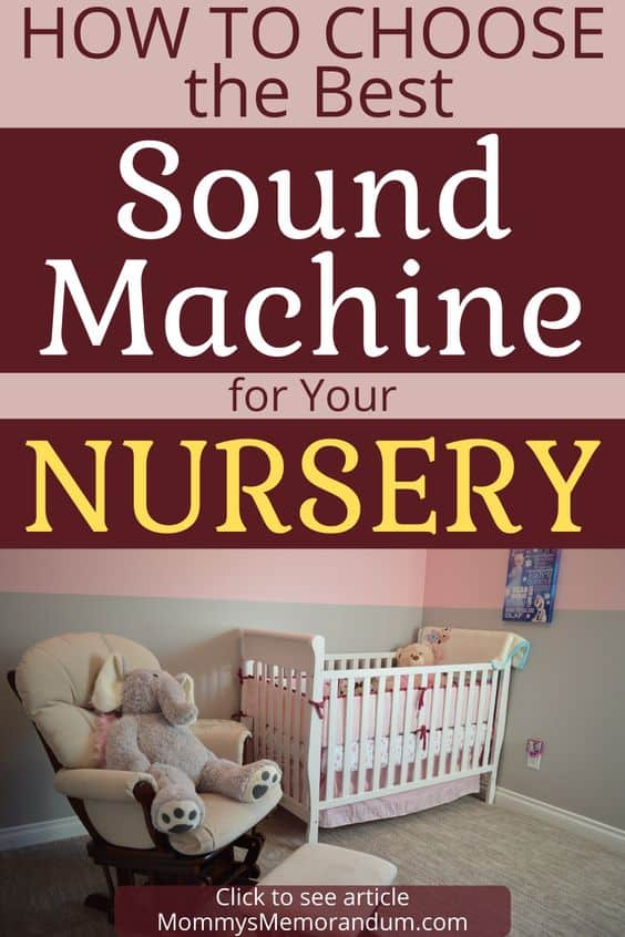 Selecting a sound machine for your nursery keep these tips in mind. These sounds promote and maintain comfort and enable babies to sleep more soundly.