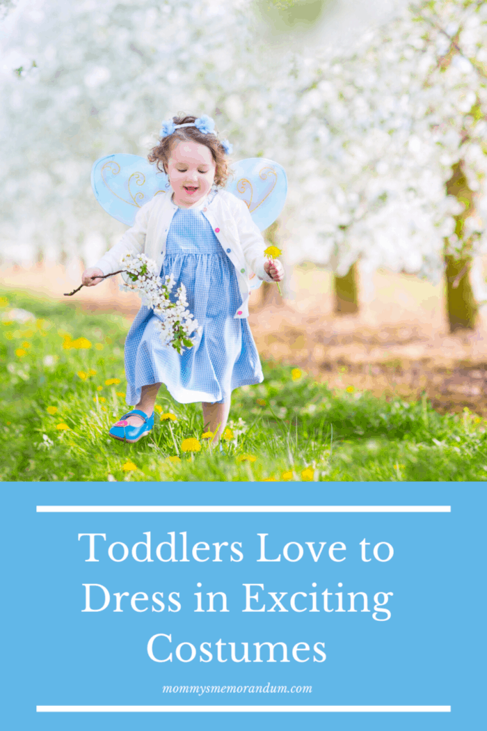 toddler dressed in fairy costume