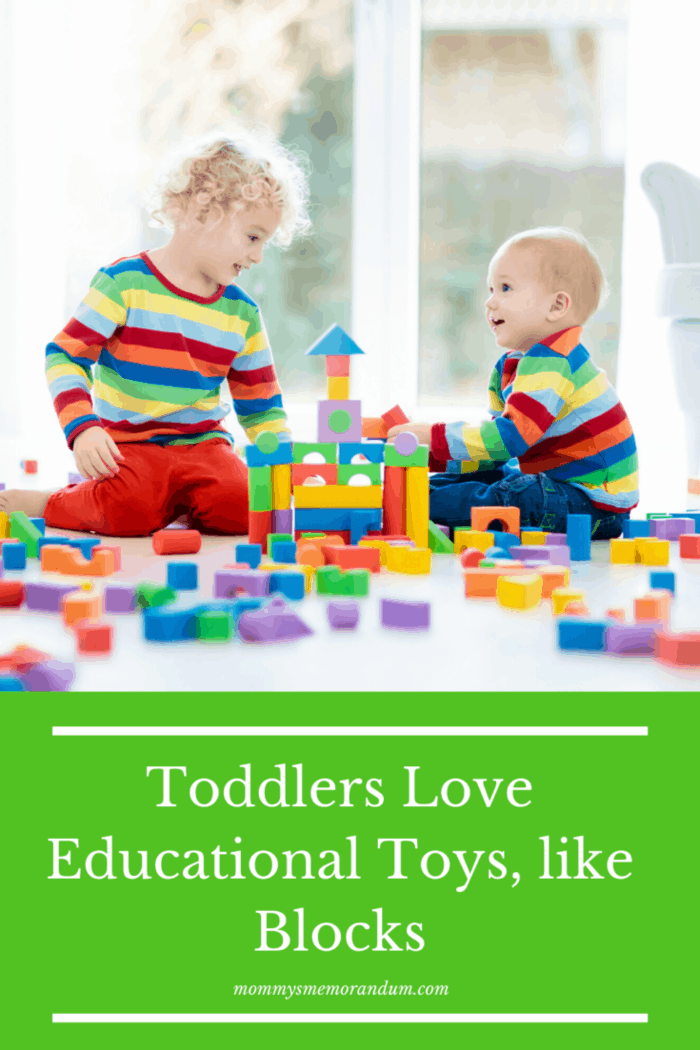 wooden blocks with toddlers
