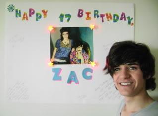 zac birthday artskills poster