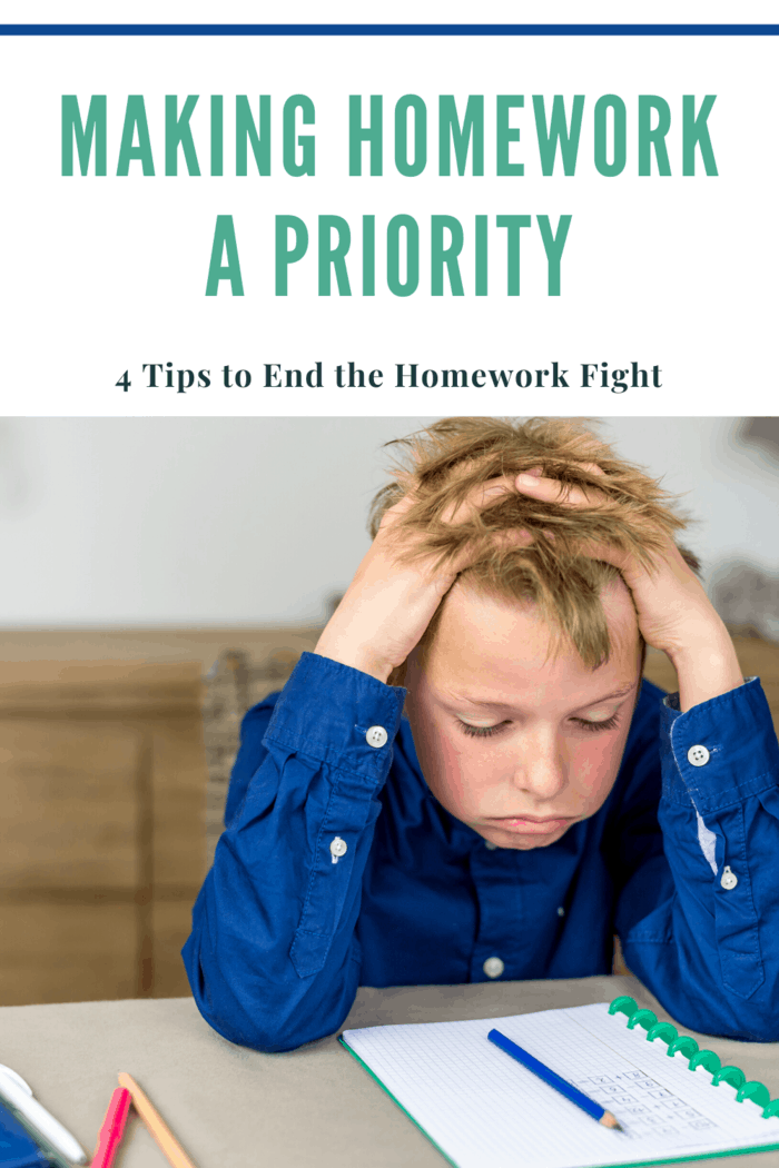 As soon as they get home from school, we ask if they have homework, when it's due, and what materials they need to complete it.