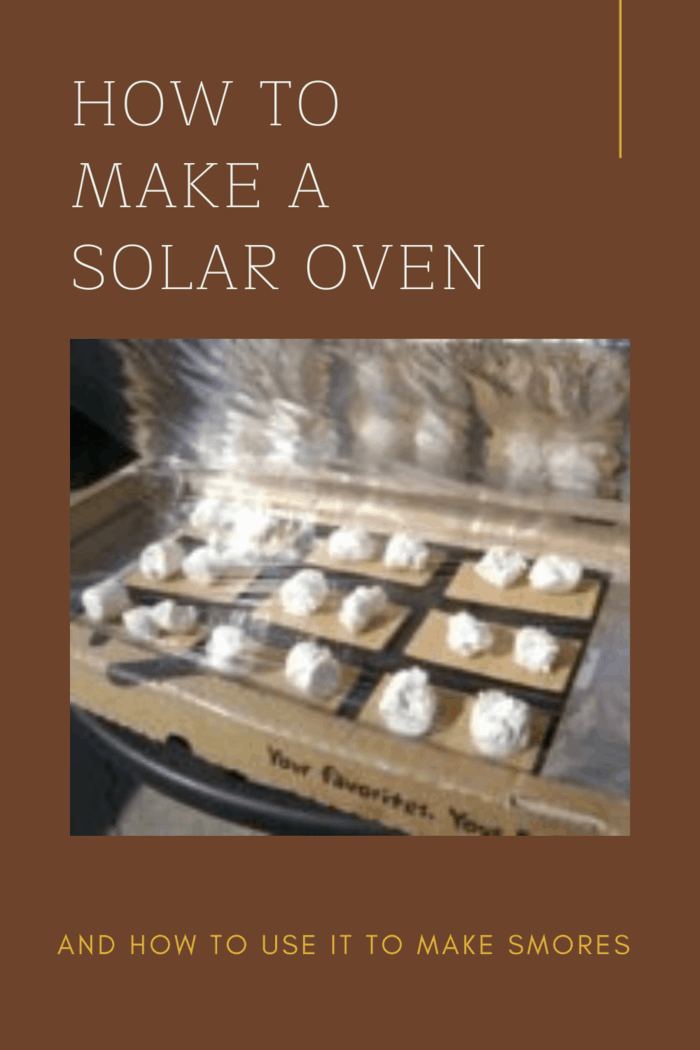 solar oven making smores