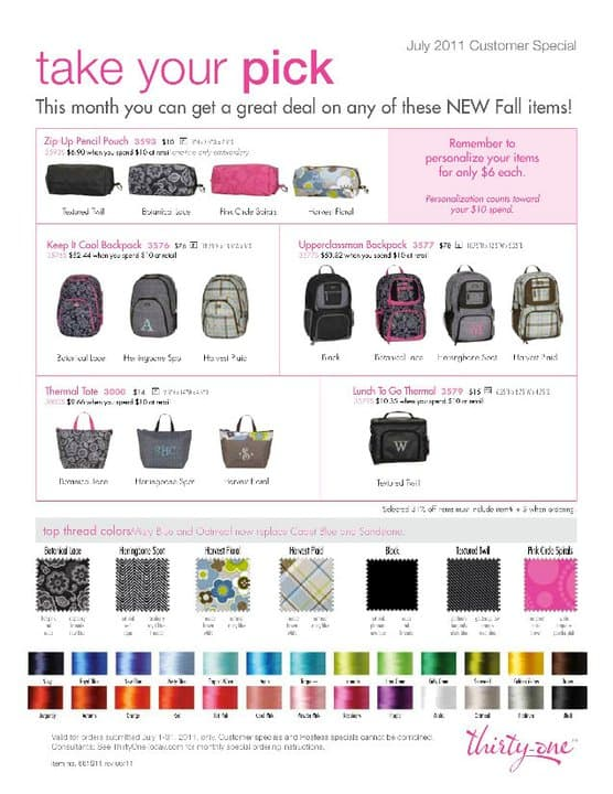 Thirty-One Backpacks