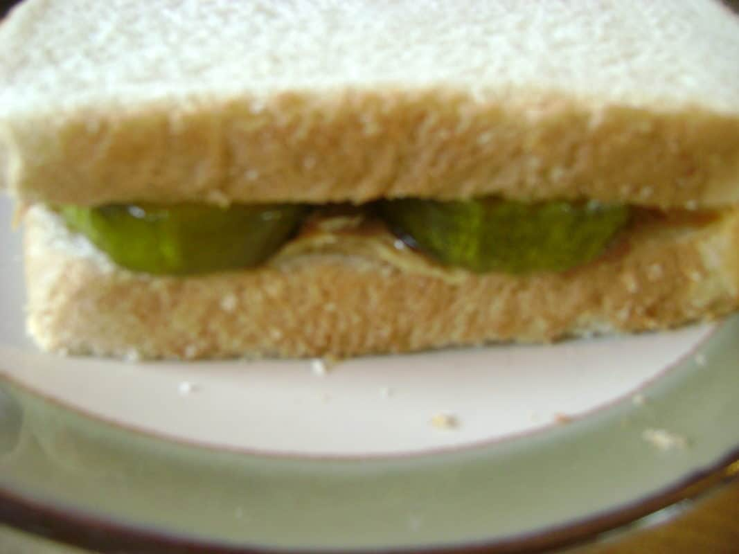 peanut butter and pickle sandwich