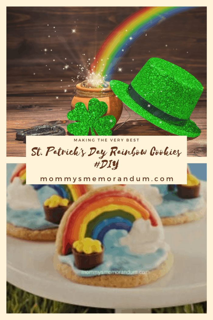 Help your li'l leprechaun find his gold at the end of the rainbow with these adorable, and easy cookies.