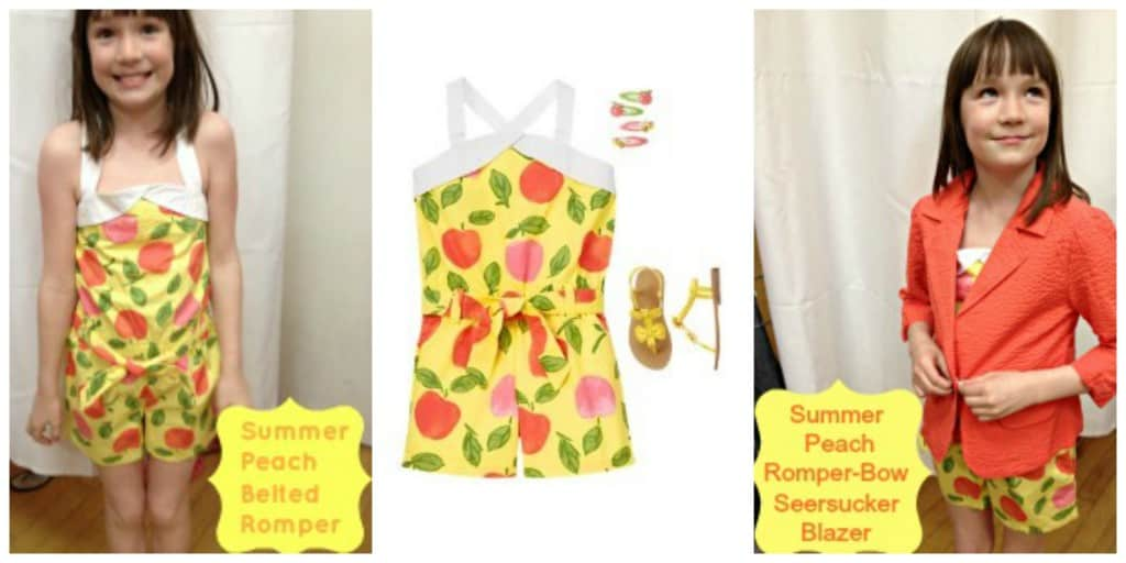 Summer Peach Collage