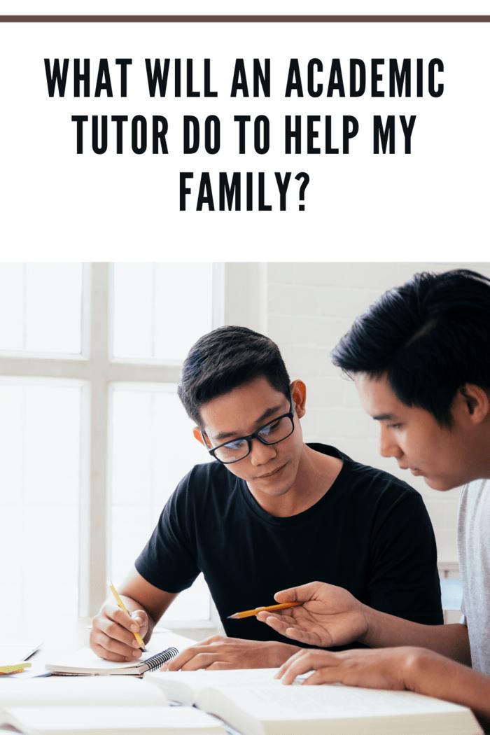 academic tutor helping teenager