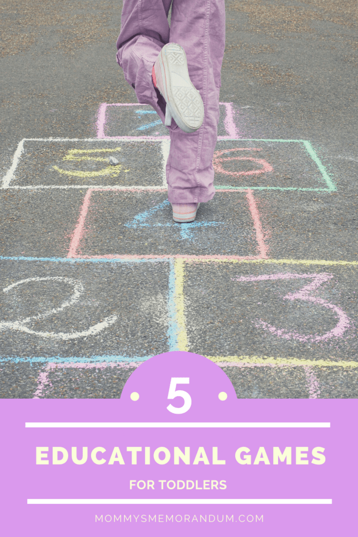 Counting can be tough to master, but Hopscotch is a fun game that lets kids work off some energy and literally bounce around while they're learning.