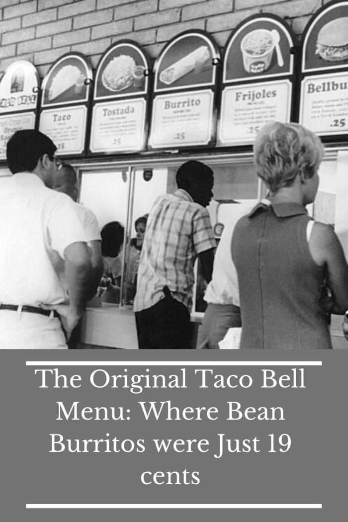 original taco bell menu