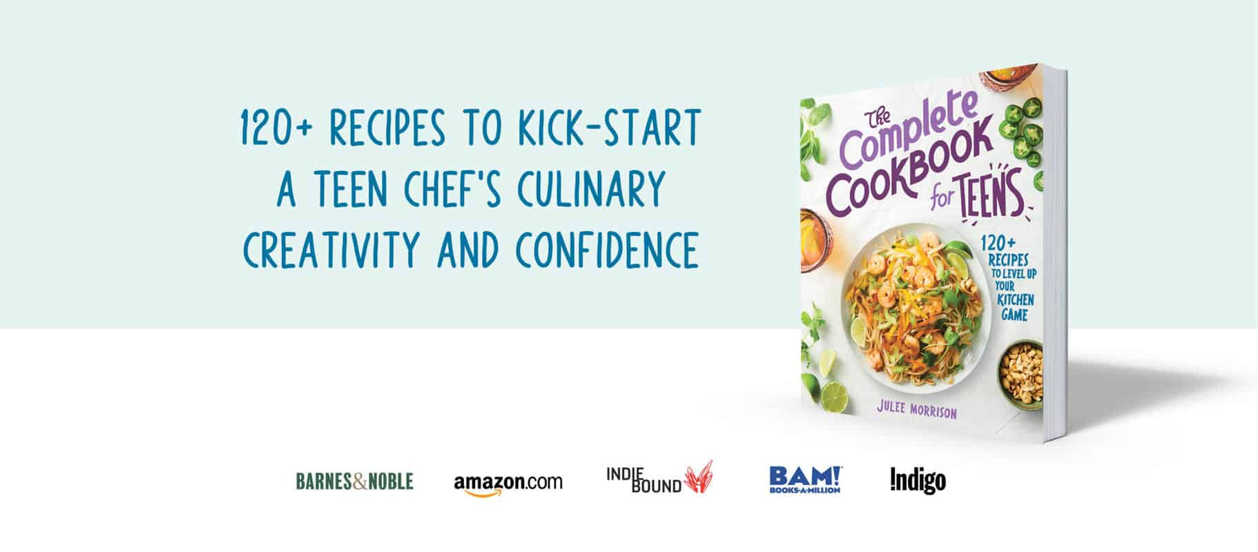 the complete cookbook for teens banner