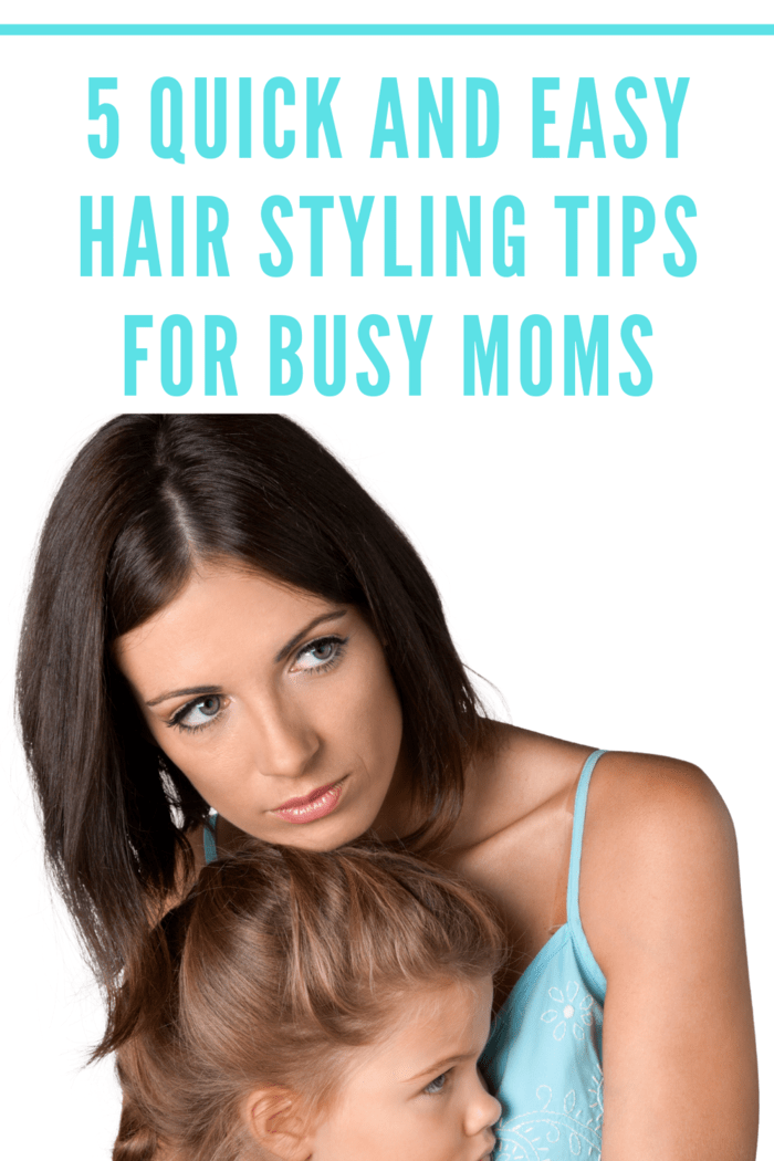You might not have a lot of time to devote to styling in the morning when you're busy trying to get kids out of bed, fed, and on their way to school.