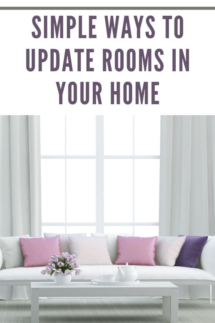 Update rooms in your home without being an overwhelming project.
