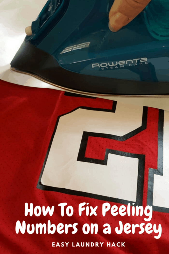 rowenta iron ironing red jersey with number 21
