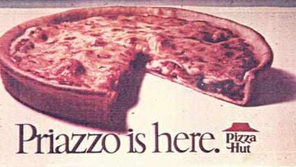 the priazzo from pizza hut