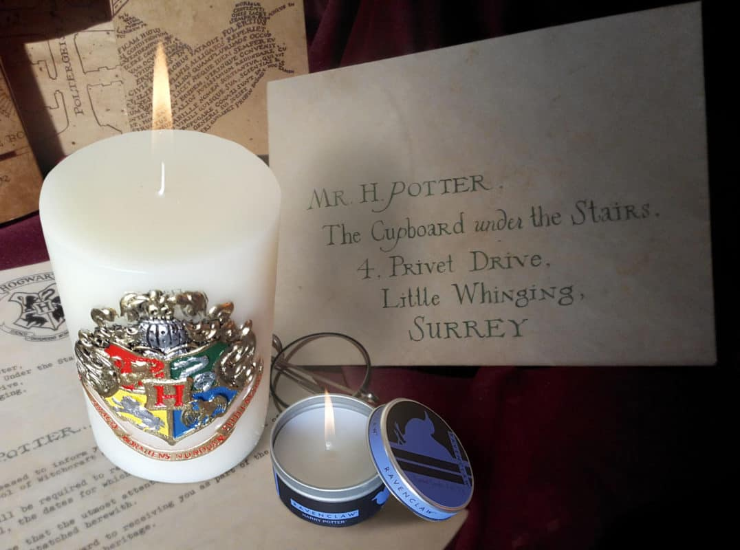 harry potter insignia candles from insight editions