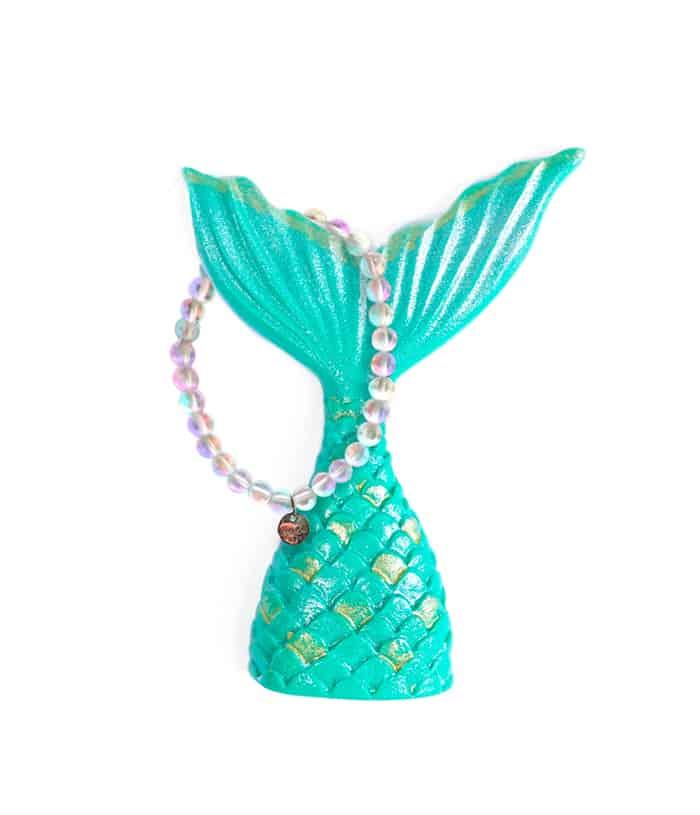 nogu mermaid glass bracelet on mermaid tail