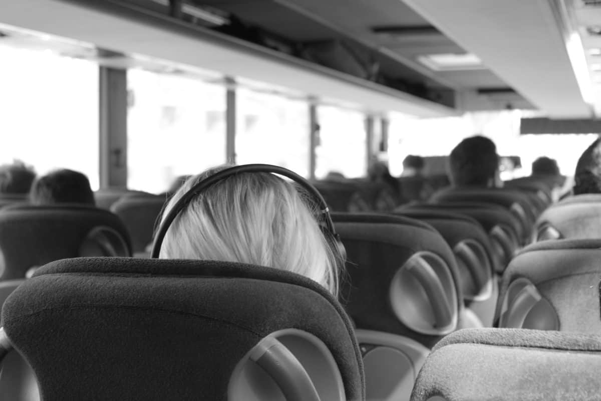 relax on a long bus trip