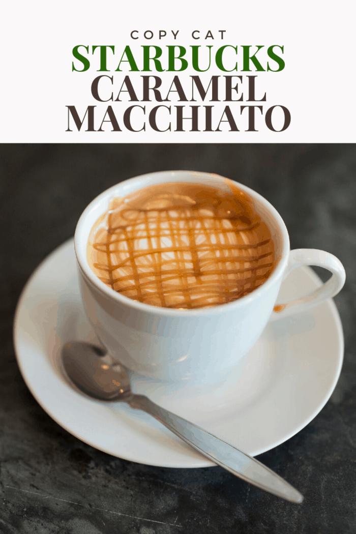 Enjoy this perfect homemade alternative to Starbucks caramel macchiato.