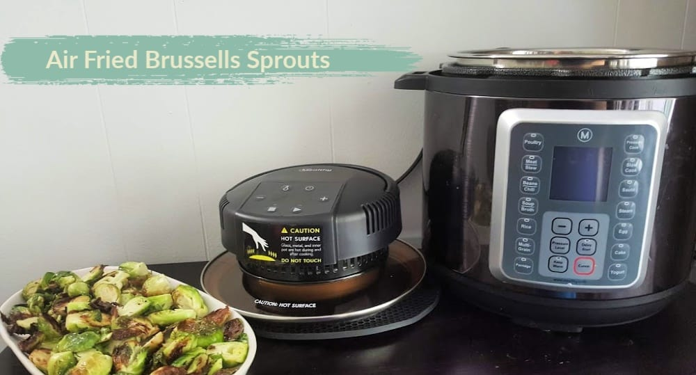 air fryer brussels sprouts with crisplid