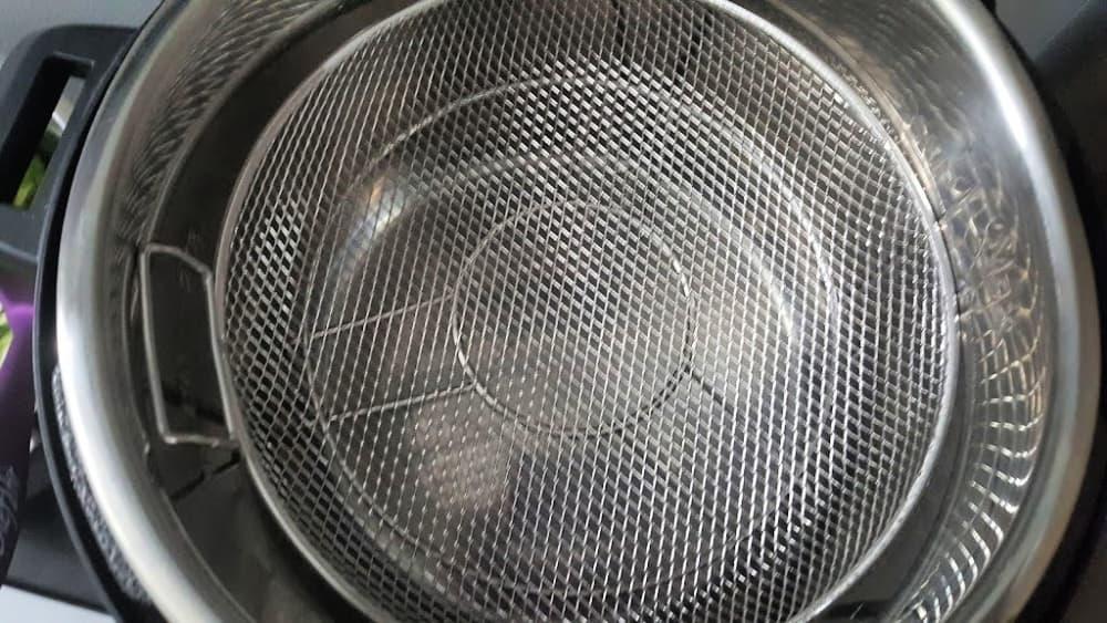 add the steam basket