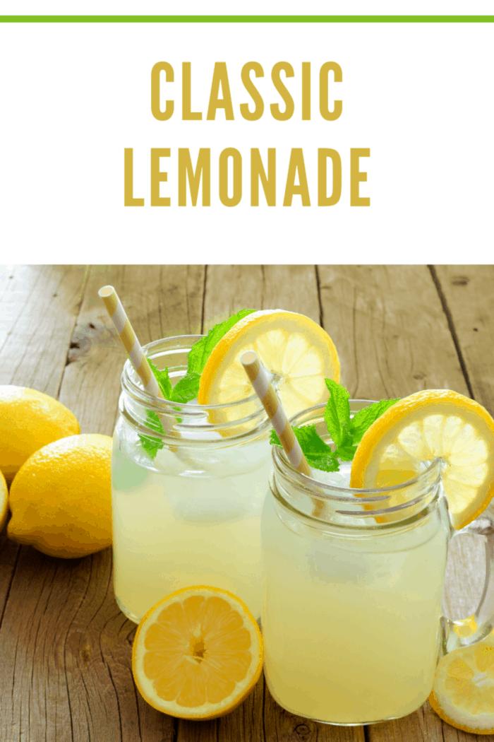 classic lemonade in glasses