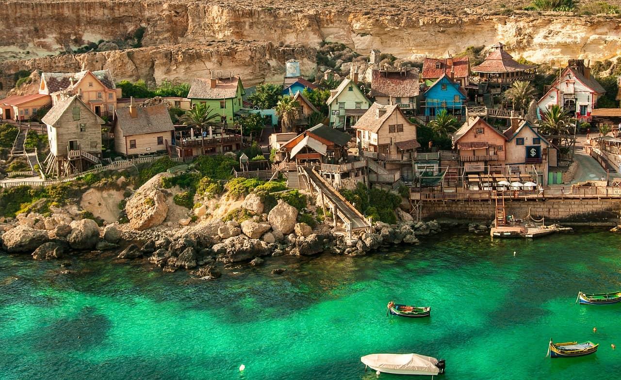 malta popeyes village mediterranean island