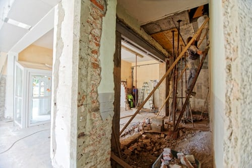 remodeling home under construction