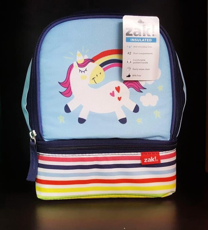 zak designs blue unicorn