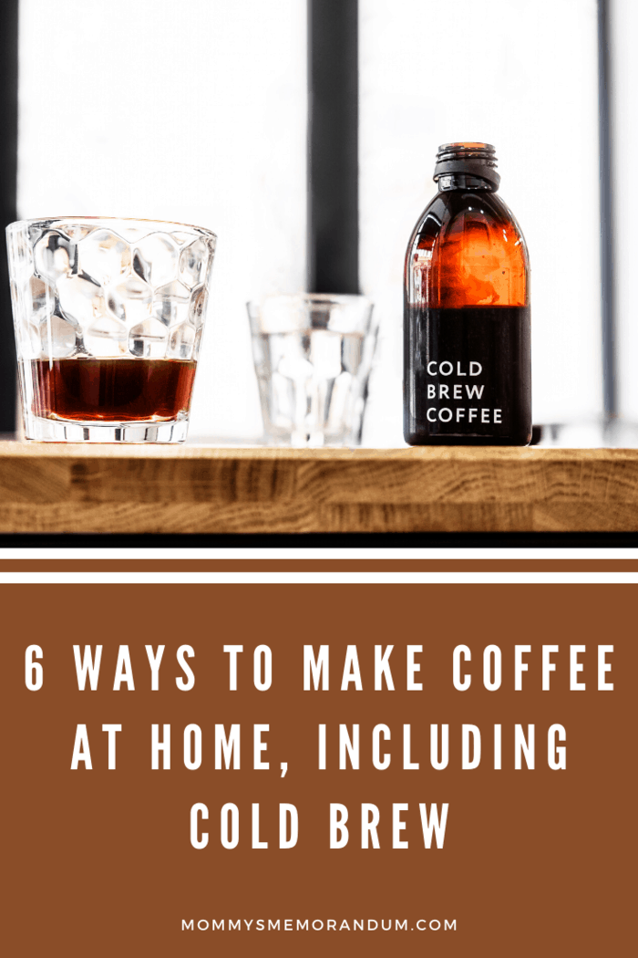 Iced coffee is already brewed and served with ice.
