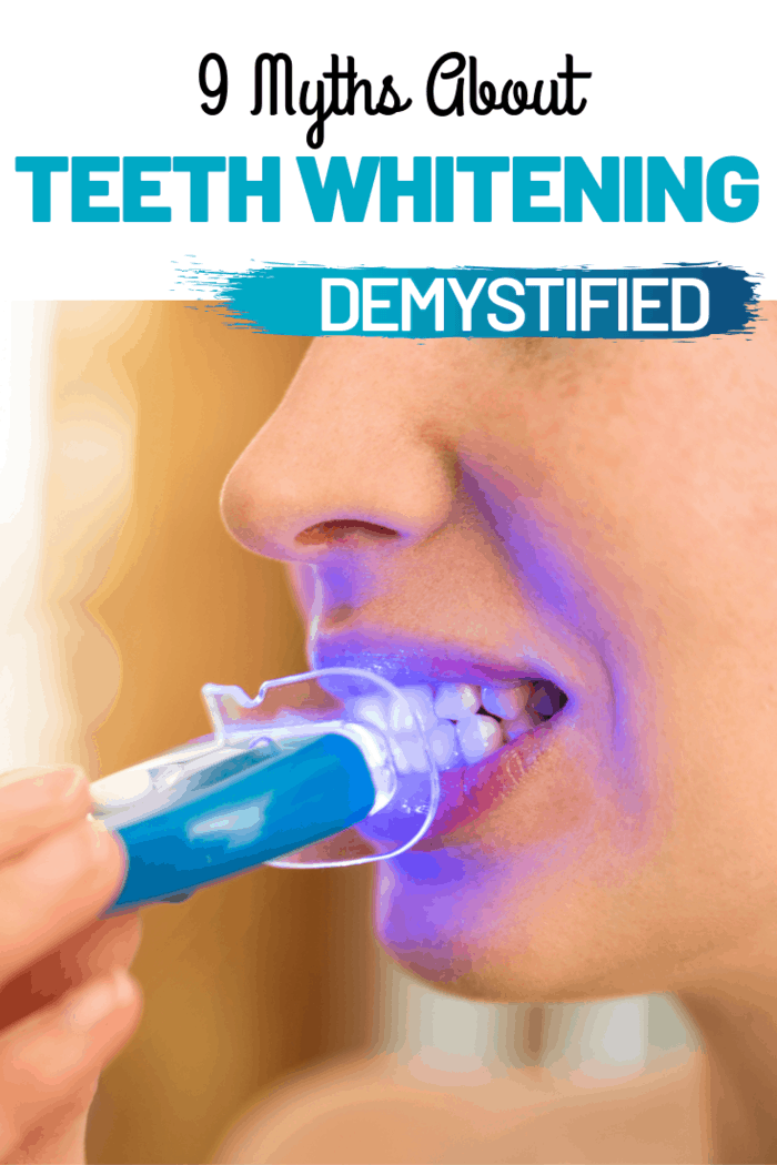 When you use tooth whitening products, the LED works with an agent that whitens the teeth.