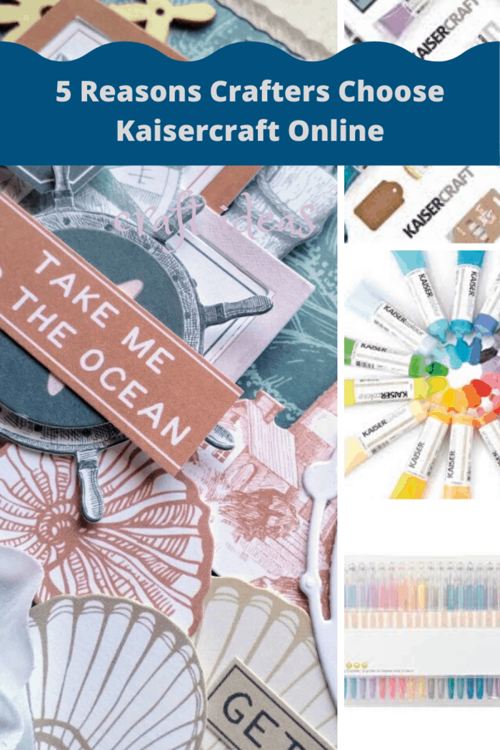 Kaisercraft is available in traditional retail stores, but it is actually much better to buy these craft products online.