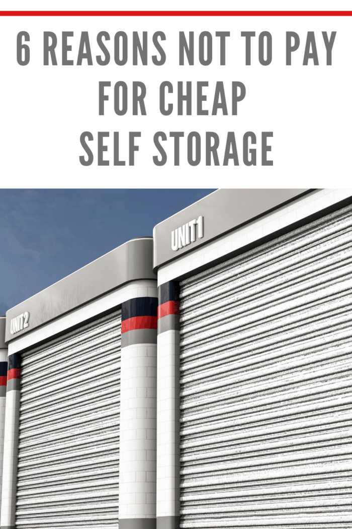 Even though we could all do with extra space, self-storage isn't right for everybody. Take a look at six reasons not to pay for cheap self-storage.