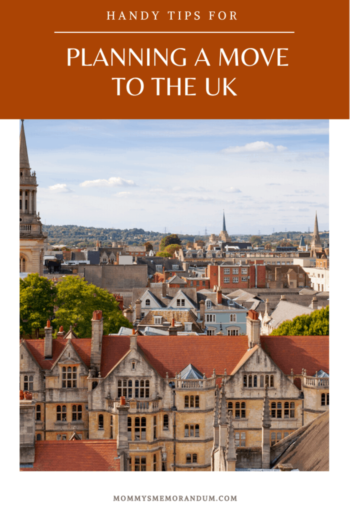 Moving to the UK can be tricky, as with any move abroad. Here are some handy tips to keep you organized when you're planning a move to the UK.