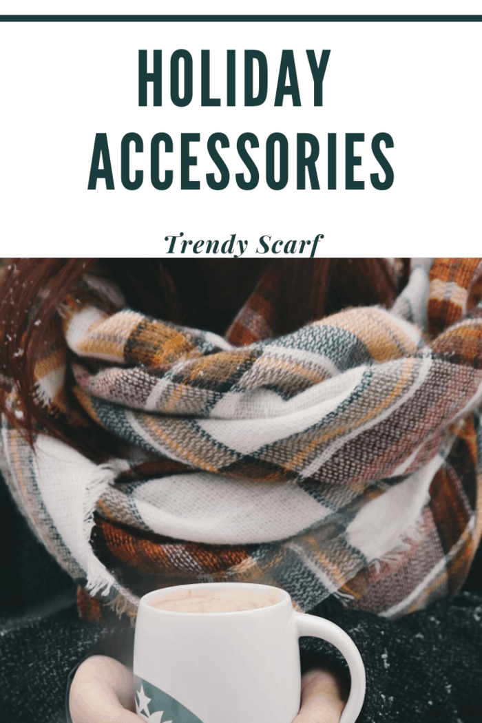 This Christmas, you can up your outfit altogether with a trendy scarf.