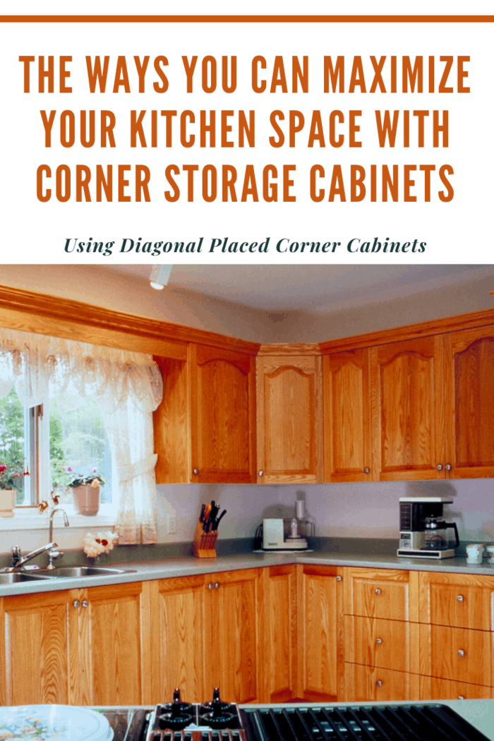 These diagonally placed corner cabinets will help you not only preserve the show of the kitchen but also allow other kitchen appliances to be used on it as well.