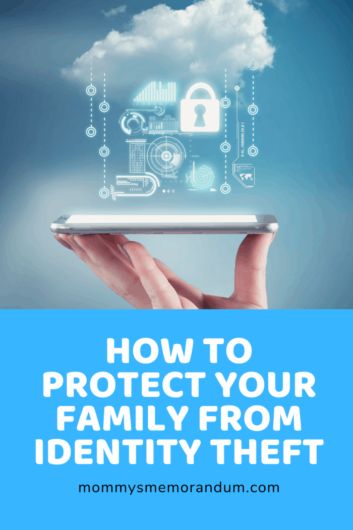 smartphone in hand with icons floating above indicating it is protected against identity theft