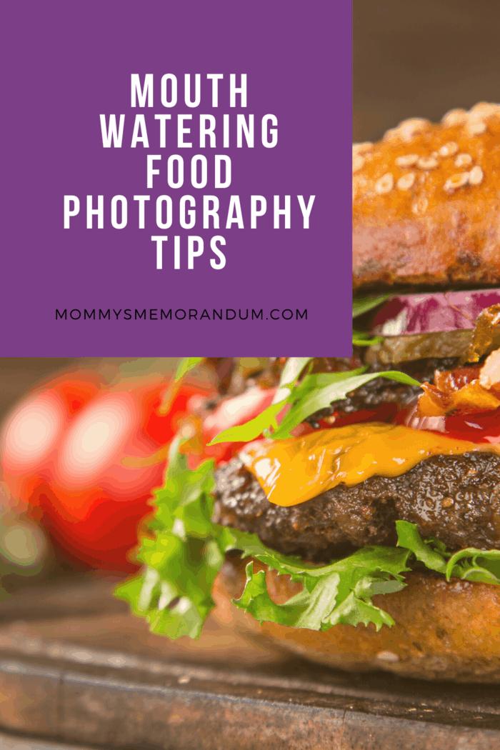 food photography of juicy burger