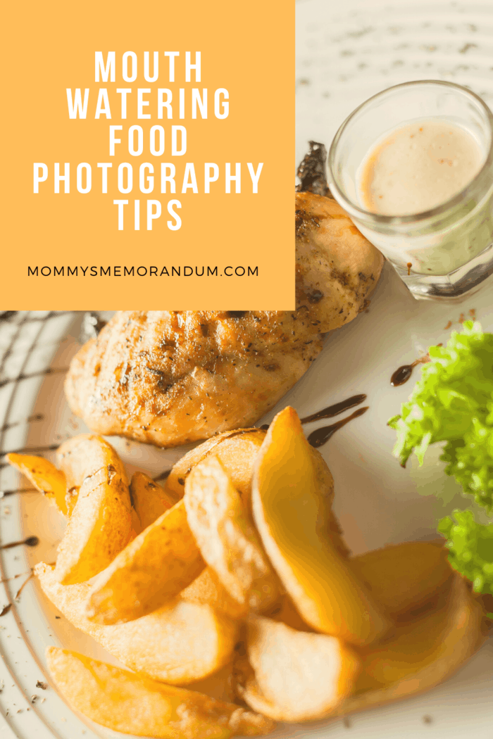 food photography of chicken breast with closeup of french fries