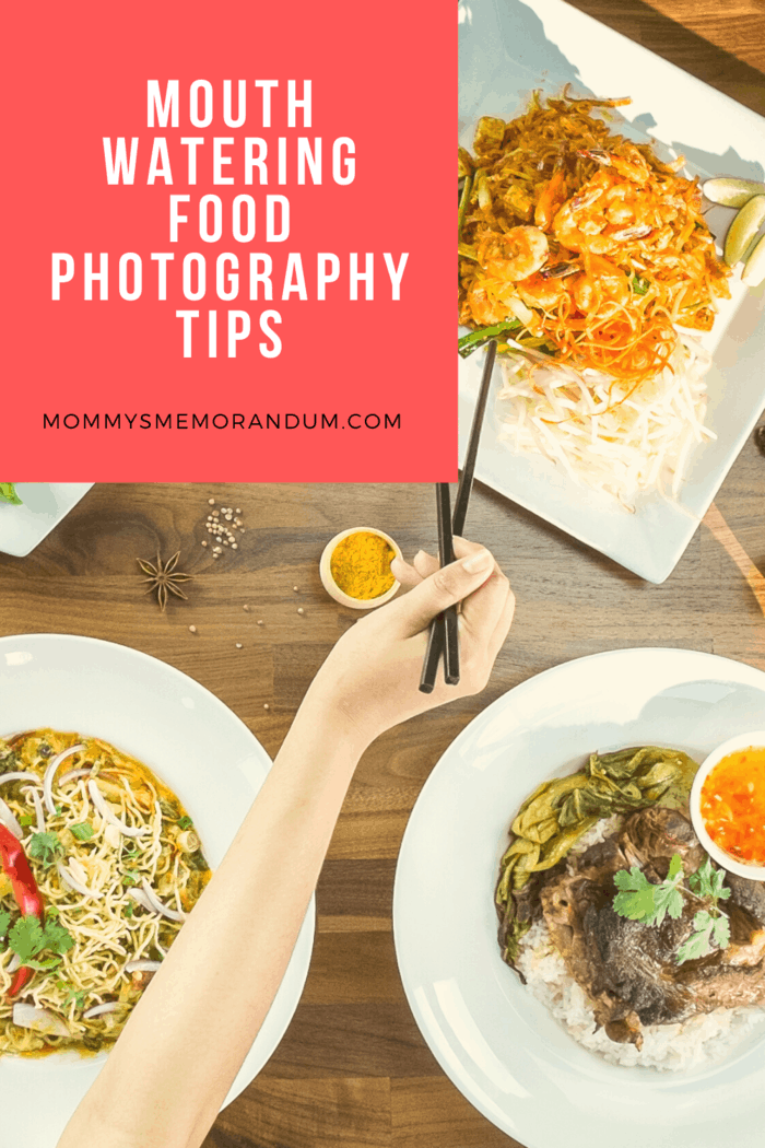 aerial food photography