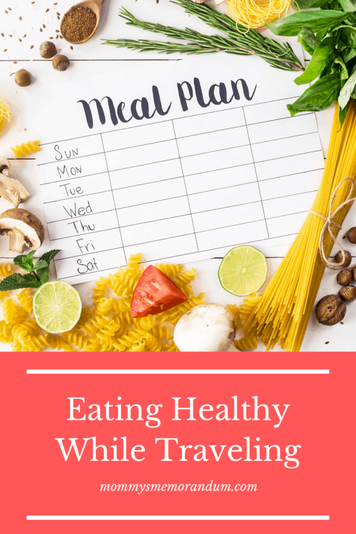 The best way to ensure you eat healthy when traveling is to plan the food you will eat.