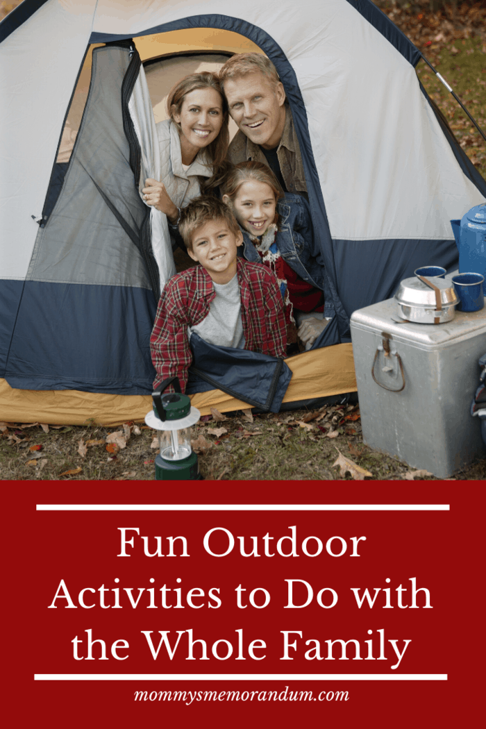 Camping is perfect for the whole family