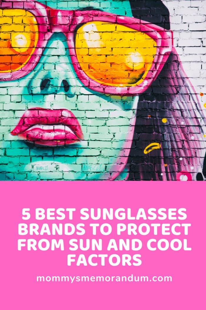 graffiti street art of woman with sunglasses