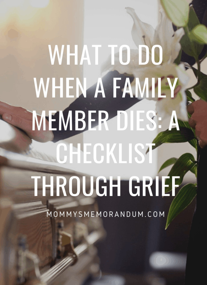 Who knows, taking this responsibility may be a welcome distraction from your grief.