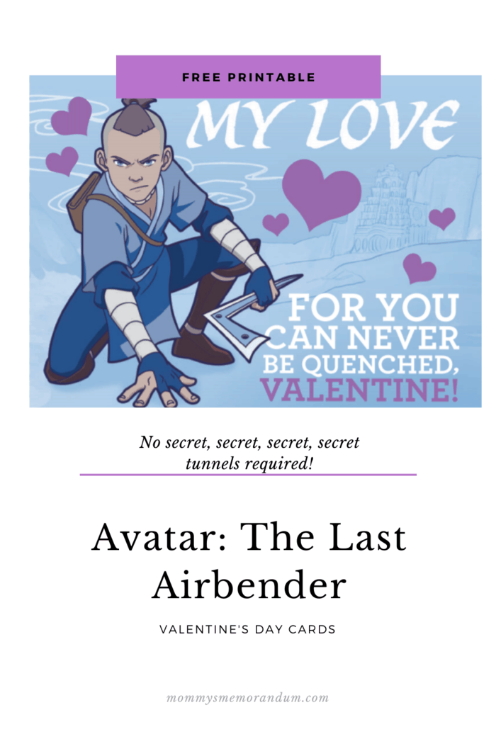Avatar fans can celebrate Valentines Day with these free printable Valentines from Nickelodeon's critically-acclaimed, Emmy® award-winning series Avatar: The Last Airbender.